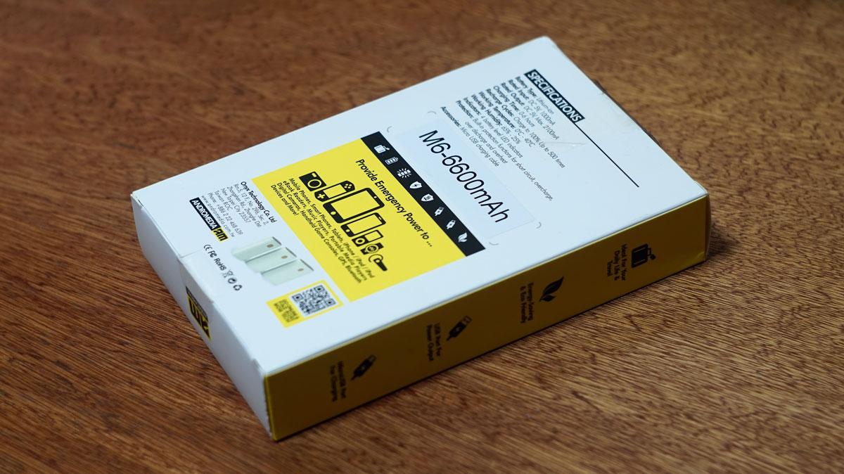 Andromedia M6 6600 mAh Powerbank (2)
