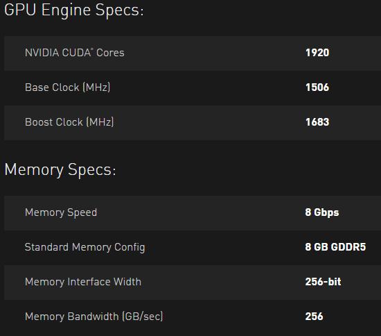 Nvidia GTX 1070 Spec Price (2)