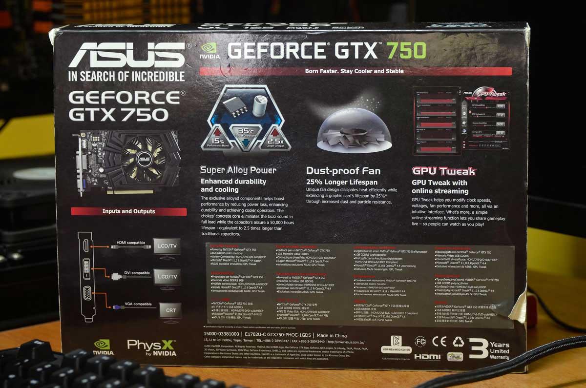ASUS GTX 750 OC (1)