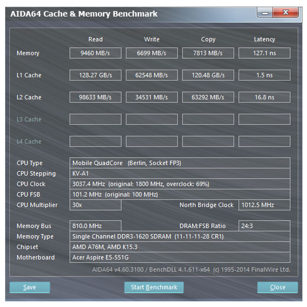 Acer-Aspire-E5-551G-Memory-Performance