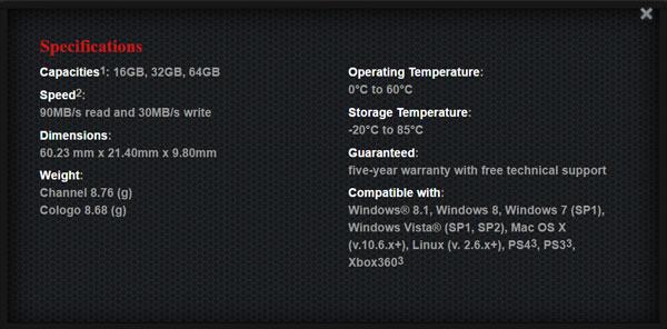 Kingston-HyperX-Fury-USB-Specs