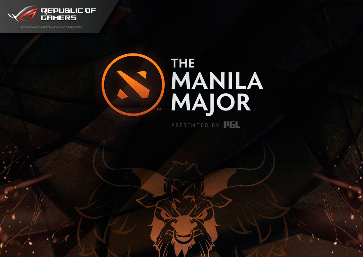 rog partners with valve and pgl for the dota 2 manila major