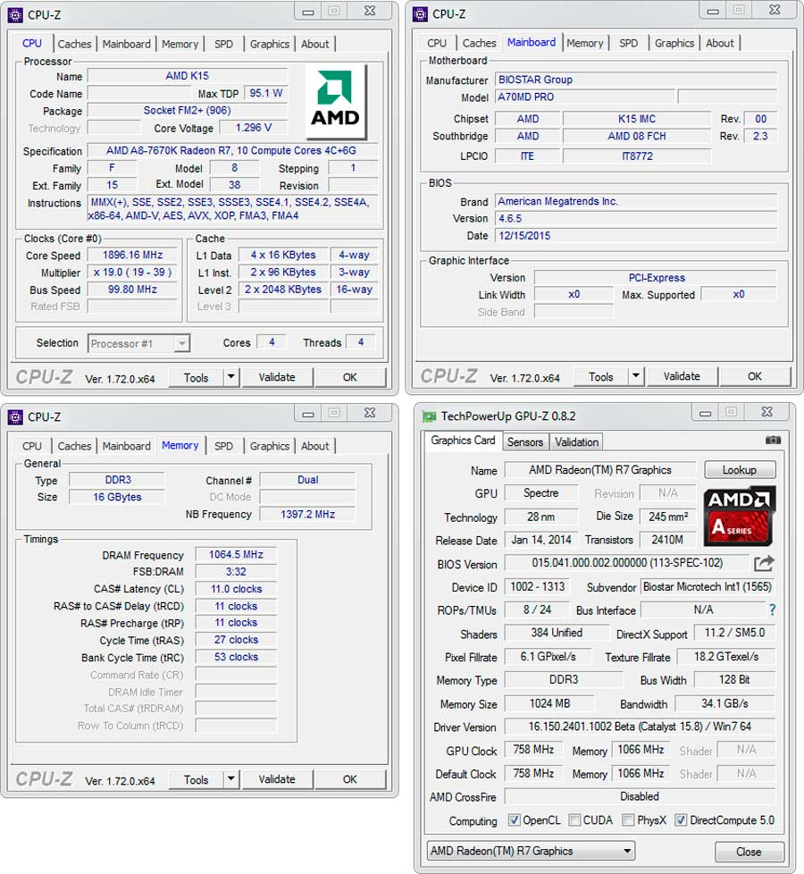 Biostar-A70MD-Pro-CPU-Z