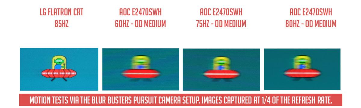 AOC E2470SWH Motion Artifacts 2