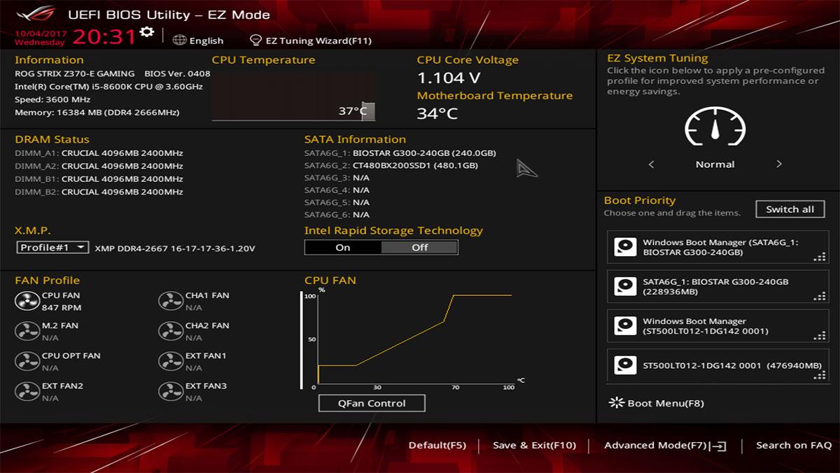 ASUS ROG Strix Z370 E Gaming BIOS 2