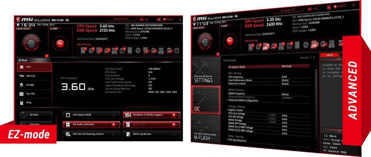 MSI B350 Pro Gaming Carbon BIOS 2