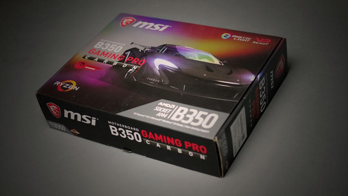 MSI B350 Pro Gaming Carbon Review 1
