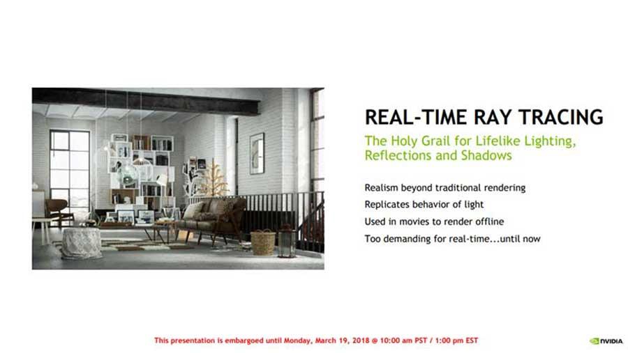 Nvidia RTX Tech Ray Tracing PR 2
