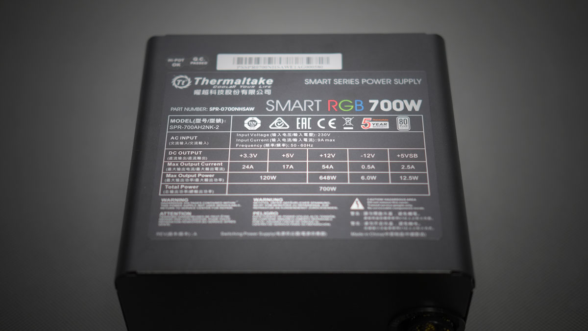 Thermaltake Smart RGB PSU 700W 9